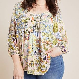 NWOT Anthropologie Boswell Blouse, Pink